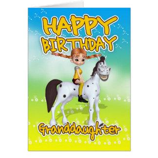 Sondotterfödelsedagkort - långt lagrar för Cutie Hälsningskort