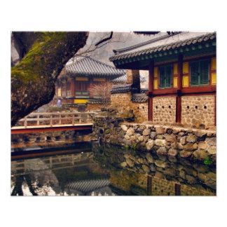 Songgwangsa tempel, Suncheon, Sydkorea Fototryck