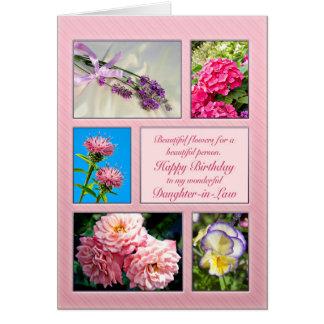 Sonhustru härligt blommafödelsedagkort hälsningskort