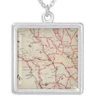 Sonoma, Marin, sjö och Napa län Silverpläterat Halsband