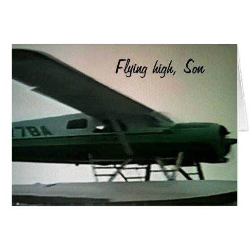 SONS SON FÖR GRADUATION--FLYINGKICK KORT