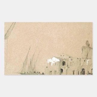 Sorrento. Havet beskådar vid Ivan Aivazovsky Rektangulärt Klistermärke