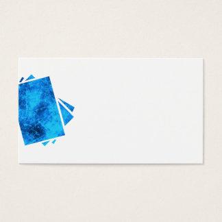 Sort av blått visitkort