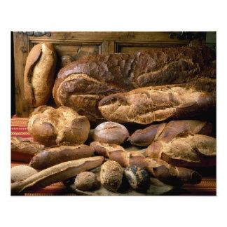 Sortiment av land-stil bröd för använda in fototryck