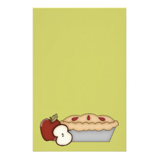 Söt Apple paj Brevpapper
