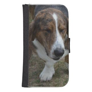 Söt Bassethund Galaxy S4 Plånbok