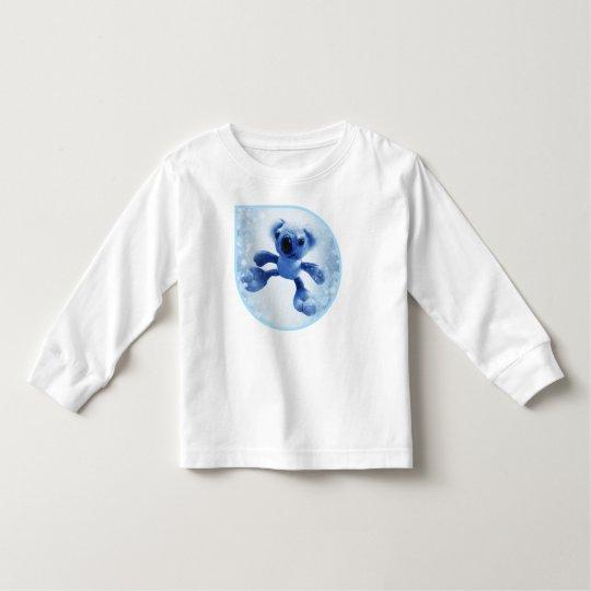 Söt bebiskoalabjörn i en gullig snöig raindrop tee shirt