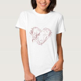 """Söt """"blom- hjärta """", t shirt"""