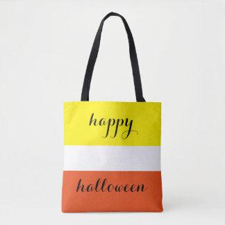 Söt candy corn för happy halloween tygkasse