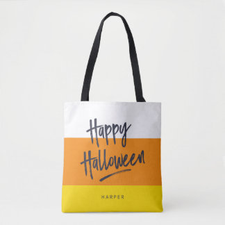 Söt candy cornhappy halloween tygkasse