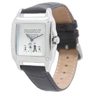 Söt familj Time, rolig svart vitklocka Armbandsur