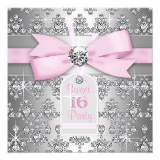 Söt födelsedag 16 för för silverdiamantrosor och g
