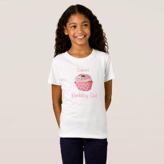 Söt födelsedagflickautslagsplats, gullig muffin tshirts