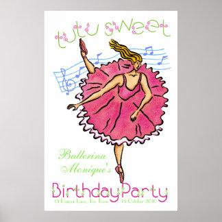 Söt födelsedagsfest för affischTutu Poster
