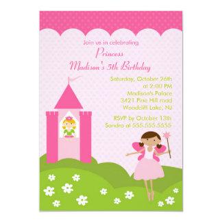 Söt för Princess födelsedagsfest i rosa inbjudan