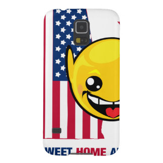 Söt hem- Alabama Smiley Galaxy S5 Fodral