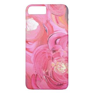 Söt i rosa blommigttelefonfodral