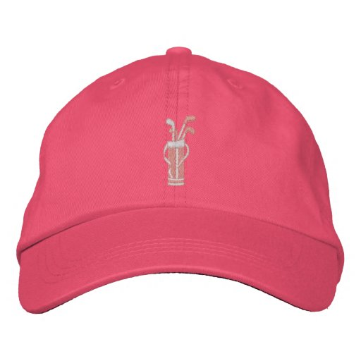 Söt i rosa Golf Broderade Baseball Kepsar