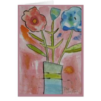 Söt i rosa grattis på födelsedagen hälsningskort