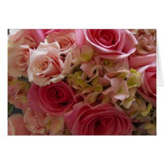 Söt i rosor hälsningskort