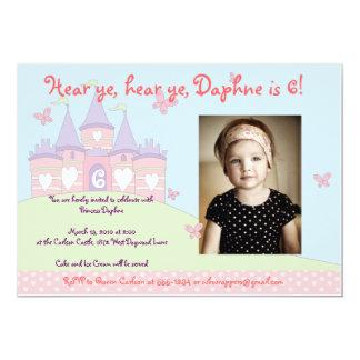 Söt inbjudan för Princess Festa