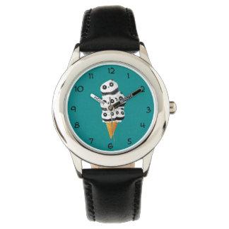 Söt kotte för Pandabjörnglass Armbandsur