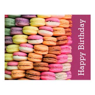 Söt Macarons grattis på födelsedagen Vykort