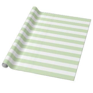 Söt Mint & vit görat randig linnesjalpapper Presentpapper