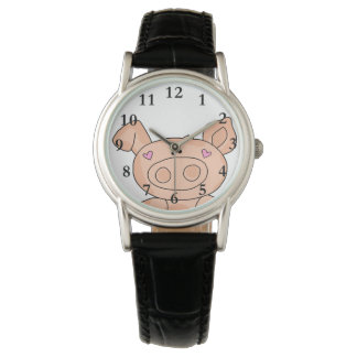 Söt Piggy klocka