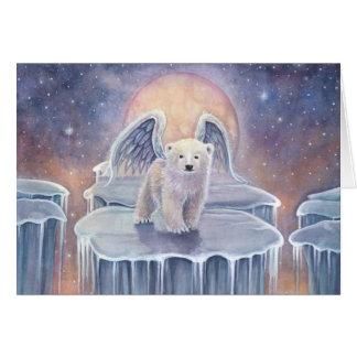 Söt polar konst för fantasi för djurliv för hälsningskort
