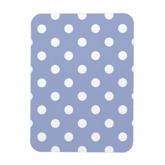 Söt polka dots på blåttbakgrund magnet