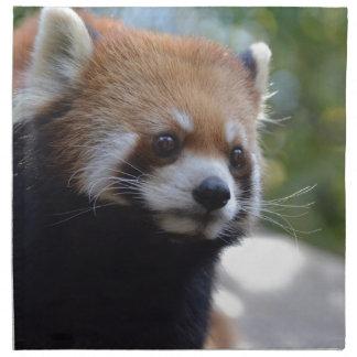 Söt röd Pandabjörn Tygservett