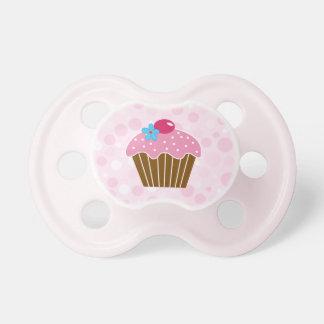 Söt rosa muffin napp