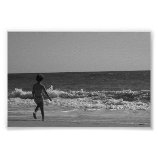 Söt strandplatsaffisch…., poster