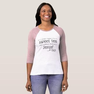 Söt Tea & Jesus T-tröja Tee Shirt