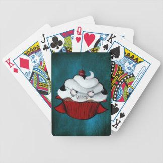 Söt vampyrmuffin spelkort
