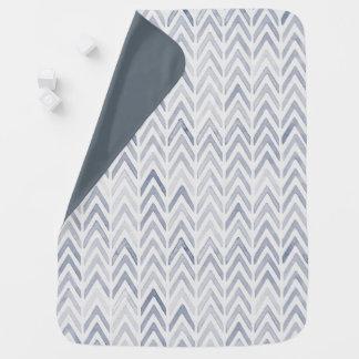 Söt vattenfärgsparrefilt i blått-grå färg toner bebisfilt