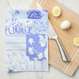 Söta blåklintblått för land kökshandduk