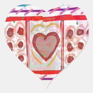 Söta choklader för älskling n: LURAR konst Hjärtformat Klistermärke