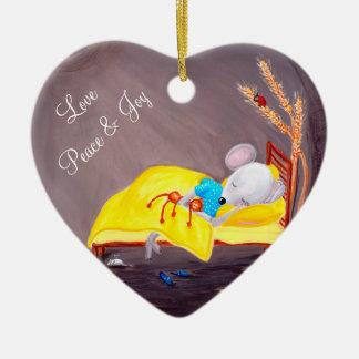 Söta drömmar | lite Mousie Personalizable Julgransprydnad Keramik