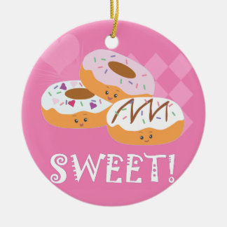 Söta fester - Donuts! Julgransprydnad Keramik
