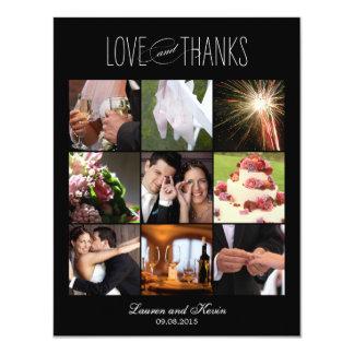 Söta minnen som gifta sig svart för fototackkort 10,8 x 14 cm inbjudningskort