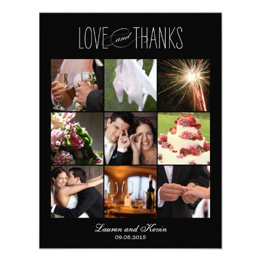 Söta minnen som gifta sig svart för fototackkort inbjudningar