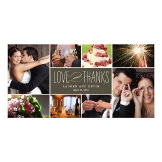 Söta minnen som gifta sig tackfotokort fotokort