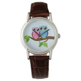 Söta romantiska ugglor armbandsur