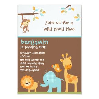 Söta Safariinbjudningar 12,7 X 17,8 Cm Inbjudningskort