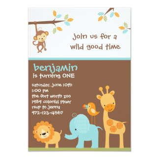 Söta Safariinbjudningar Personliga Inbjudan