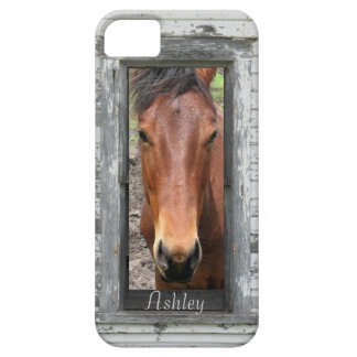 Söten bryner hästen, skräddarsy namn iPhone 5 Case-Mate skydd