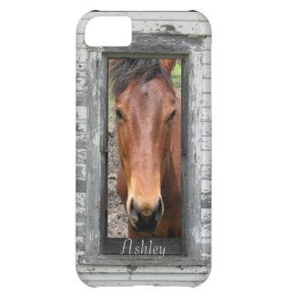 Söten bryner hästen, skräddarsy namn iPhone 5C fodral
