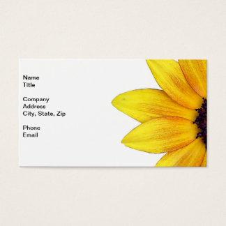 Söten gulnar den orange solrosen av 2014 visitkort